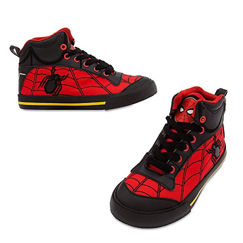 Spiderman Shoes For Kids (Marvel Spider-Man High-Top Sneakers for Kids Size 9 YOUTH Red)