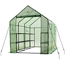 """Ogrow OGRC11767-PE 2 Tier 12 Shelf Greenhouse PE Replacement Cover-To Fit Frame Size 117"""" L X 67"""" W X 83"""" H"""