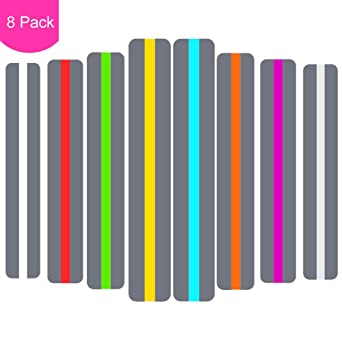 10 x Dyslexia Reading Strips with Coloured Overlays Reading Tracking Rulers,