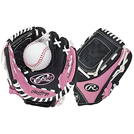 b9ae78d44bc Amazon.com   NEW 2015 Rawlings Girls Pink T-Ball Glove (Ages 6 ...