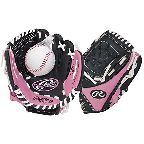 Girls Pink Left Handers T-Ball Glove (Glove on Right Hand, Throw with Left Hand)