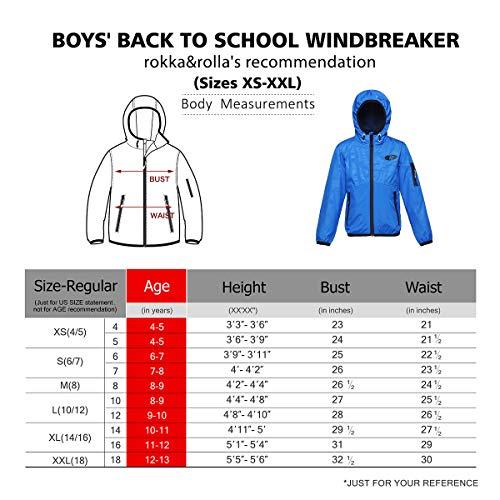 Rokka&Rolla Boys' Lightweight Water Resistant Zip-Up Hooded Windbreaker Jacket by Rokka&Rolla (Image #7)