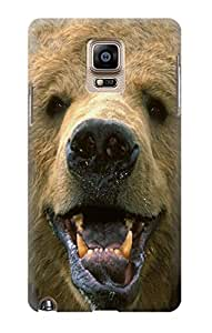 S0840 Grizzly Bear Face Case Cover For Samsung Galaxy Note 4 by lolosakes
