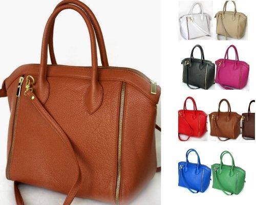 fashion-formel - Bolso cruzados de cuero para mujer marrón - marrón claro