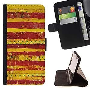 For Sony Xperia Z3 D6603 Case , Sucias Patrón Lunares rojos Líneas- la tarjeta de Crédito Slots PU Funda de cuero Monedero caso cubierta de piel