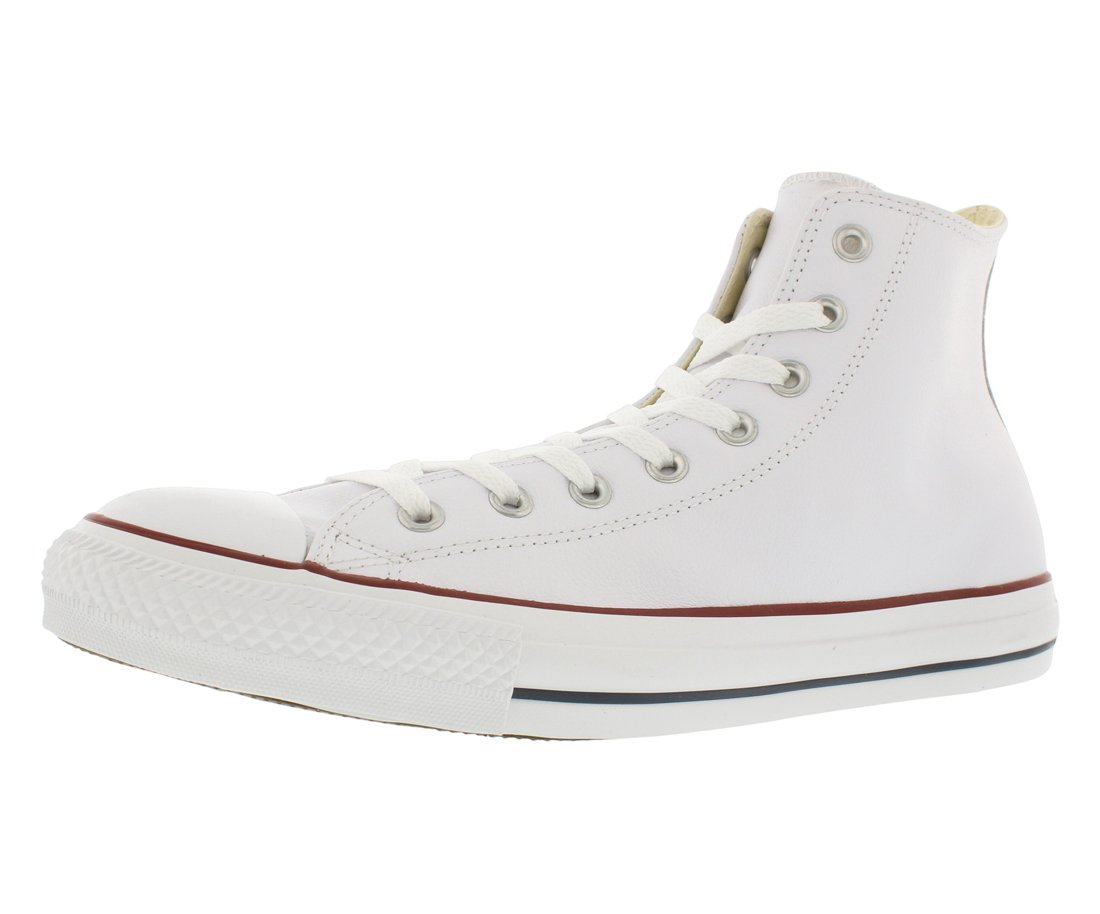 Converse Chuck Taylor All Star Leather High Top Sneaker,  white, 12 Women/10 Men by Converse