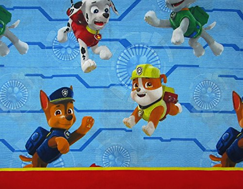 Paw Patrol Ruff Ruff Rescue (FLAT SHEET ONLY) Size TWIN Boys Girls Kids Bedding (Flat Sheets Only)