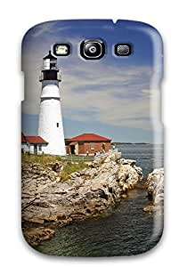 Hot 3111219K13724073 Anti-scratch And Shatterproof Lighthouse Phone Case For Galaxy S3/ High Quality Tpu Case