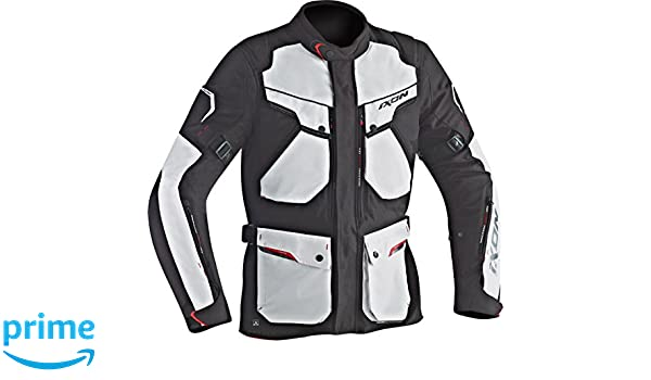Ixon Chaqueta de moto Crosstour Hp negro/gris, 3XL: Amazon ...
