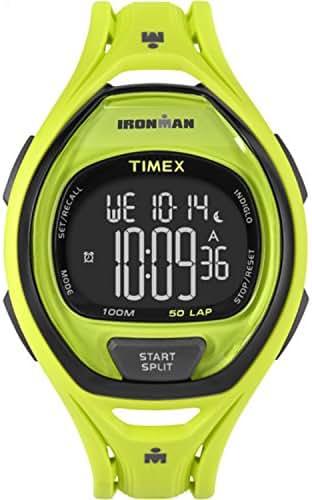 Timex Unisex TW5M01700 Ironman Sleek 50 Neon Green Resin Strap Watch