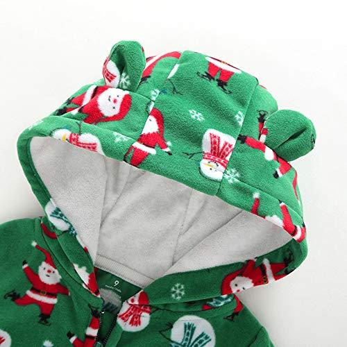 3ada46911c Saihui Kids Clothes Infant Hooded Baby Rompers Winter Fleece Jumpsuit  Pajamas Baby Boys Girl Christmas Cartoon Playsuit Santa Printed Long Sleeve  Bodysuit ...