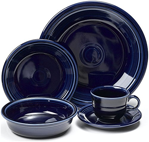 Fiesta 20-Piece, Service for 4 Dinnerware Set, Cobalt