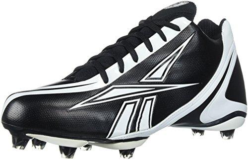 Reebok Men's NFL Burner Speed 5/8 Football Cleat,Black/White,12.5 M