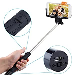 Selfie stick,URPOWER Bluetooth Monopod Selfie Stick Self Portrait Pole with Remote Shutter Button for iPhone 6, 6 Plus 6+ 5 5S 5C 4S, Samsung Galaxy S6 Edge, S6 S5 S4 S3,Note Edge,Note 4 3 2 and Other Smartphones