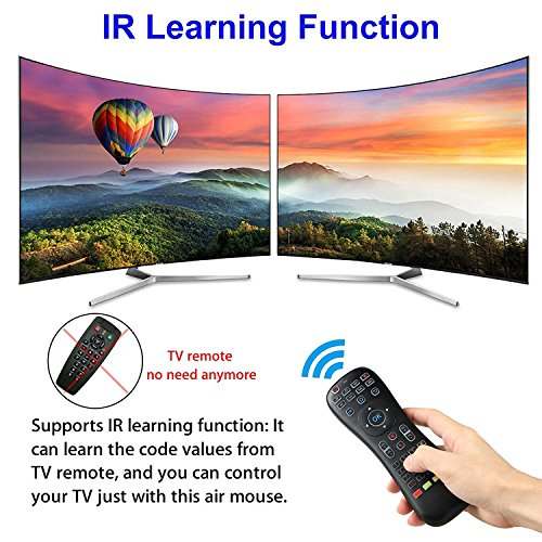 LinkStyle Updated Air Mouse Backlit, 2 4G Wireless Android Kodi