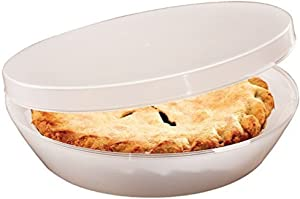 Stay Fresh Pie Keeper with Hinged Lid, Universal Storage Container, Plastic