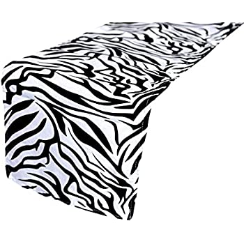 Ordinaire URBY 12u0027u0027 X 108u0027u0027 Table Runner Zebra Safari Animals Print   Black