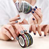 Nail Striping Tape Line 34 Colors Rolls Striping