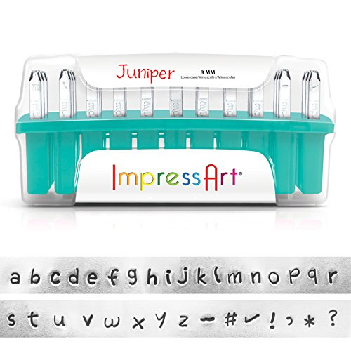 ImpressArt Lowercase Stamp Set, 3mm, Juniper