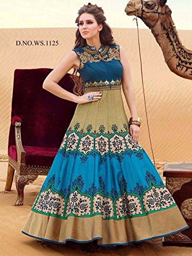 Ready-Made-Patiala-Salwar-Embroidered-Cotton-Salwar-Kameez-Suit-IndiaPakistani-Dres-G3-SMALL-Blue-Cream