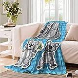 Oncegod Nap Blanket Tropical Man with Boxing Kangaroo Blanket on Bed Sofa Bedding
