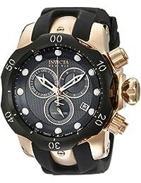 Invicta Men's 16152 Venom Analog Display Swiss Quartz Black Watch