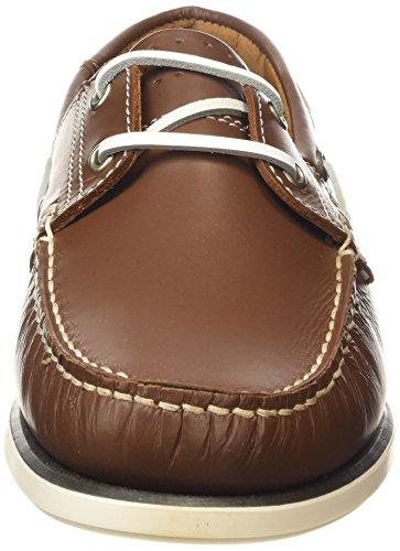 NEW Homme Chaussures Bateau en cuir marron