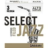 Rico Select Jazz Alto Sax Reeds, Filed, Strength 3 Strength Medium, 10-pack - RSF10ASX3M