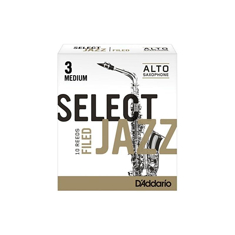 Rico Select Jazz Alto Sax Reeds, Filed,