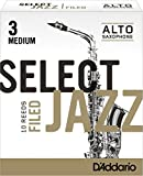 Best Alto Sax Reeds - Rico Select Jazz Alto Sax Reeds, Filed, Strength Review