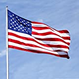 ATHX American Flag - Embroidered Stars - Sewn Stripes - Brass Grommets - UV Protected - 210D Heavyweight Oxford Nylon Built for Outdoor Use