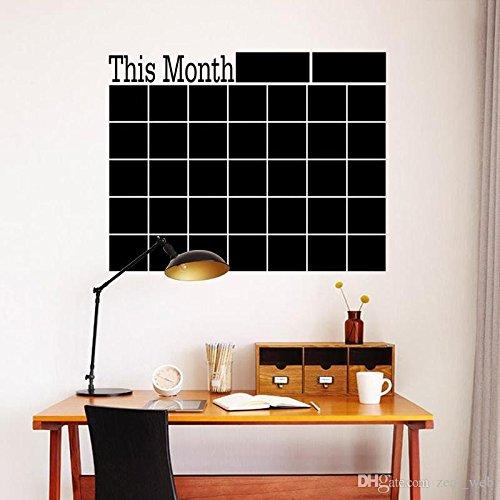 Craftmatics Monthly blackboard wall calendar/planner/organizer peel-away sticker school/office/craft supplies
