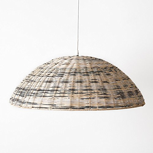 Kenay Home Davi Lámpara de Techo E27, 25 W, Natural, Verde y ...