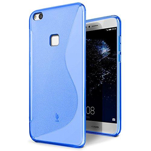 Funda Huawei P10 Lite, SLEO Slim Fit TPU Carcasa de Parachoques Case Traslúcido Suave con Absorción de Impactos y Resistente a los Arañazos para Huawei P10 Lite - Claro Azul