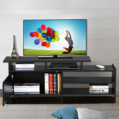 Collection 50' Tv Stand (go2buy Black TV Stand Console Table Home Entertainment Center Armoire Media Cabinets for 50 Inch Flat Screen)