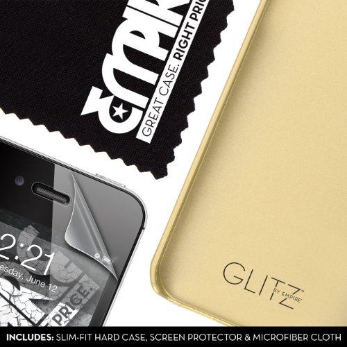 EMPIRE GLITZ Slim-Fit Case Schutzhülle für Apple iPhone 4 / 4S - Glitter Glam Gold