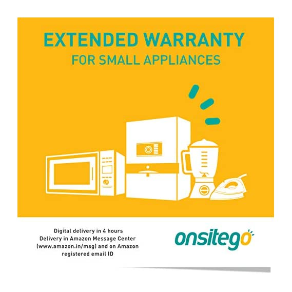 Onsitego 2 Years Extended Warranty for Small Appliances (Rs.0 to 5000)(Email Delivery - No Physical Kit) for B2B