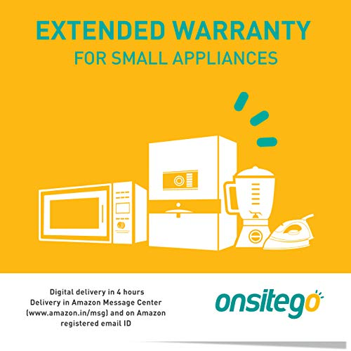 Onsitego 1 Year Extended Warranty for Small Appliances (Rs.5001-10000) (Email Delivery – No Physical Kit)