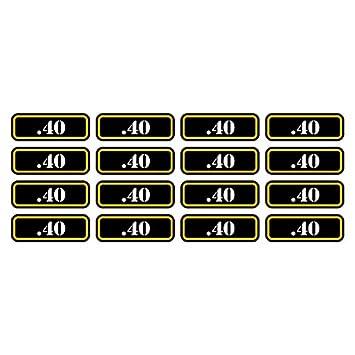 16x .40 Ammo Can Sticker Set Decal Self Adhesive molon labe bullet 40 FA Graphix