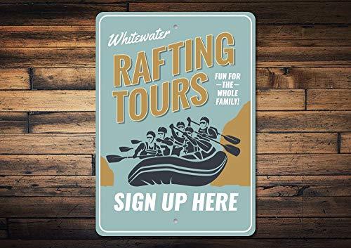 Dozili Rafting Sign Rafting Tours Sign Whitewater Rafting Gift Raft Lover Gift Raft Sign Sign Up Sign Raft Decor Quality Aluminum 12
