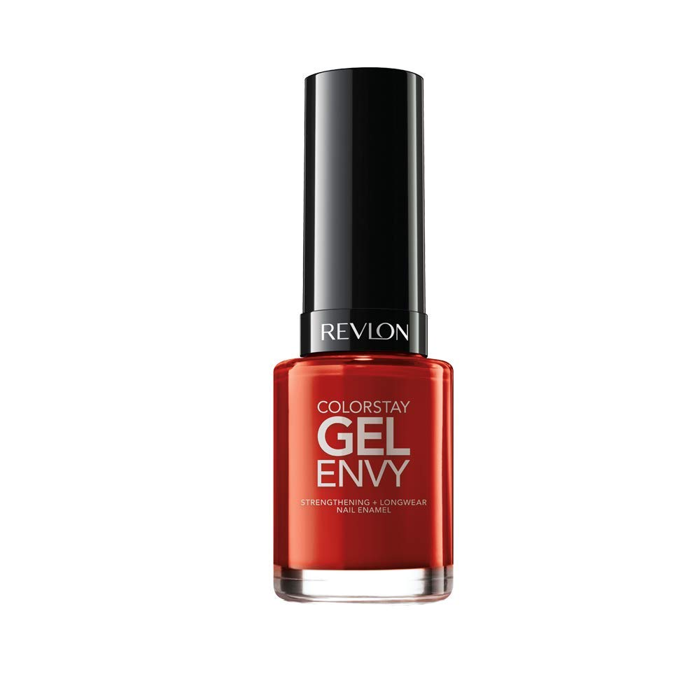 Revlon Colorstay Gel Envy Longwear Nail Enamel, All On Red, 0.4 Fl Oz (1 Count)