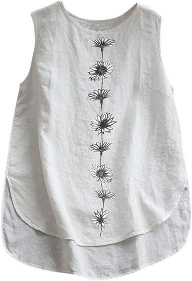 Bibokoke - Camiseta de tirantes para mujer de verano, sin ...