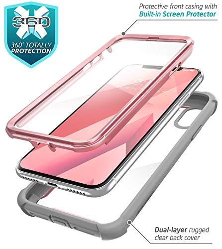 eb29df38867 i-Blason iPhone X Caso, [Ares] Full-Body Resistente Transparente Bumper  Funda con Protector De Pantalla Integrado para Apple iPhone X 2017  liberación ...