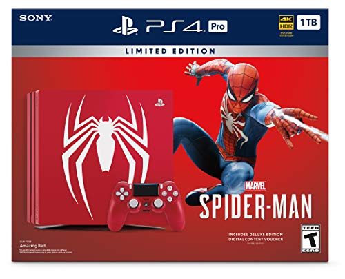 Playstation 4 Pro 2TB SSHD Limited Edition Console - Marvels Spider-Man Bundle Enhanced with Fast Solid State Hybrid… 5