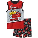 Disney Pixar Cars First To The Finish Line Boys Shorts Pajama Set