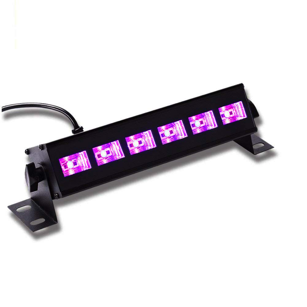 UV LED Black Light Bar Wall Washer Lights with 3Wx6 LED Stage Lighting for Parties Halloween Club Metal Housing by U`King