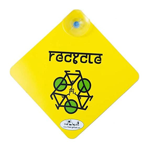 TheBrightSide Recycle Car Sign