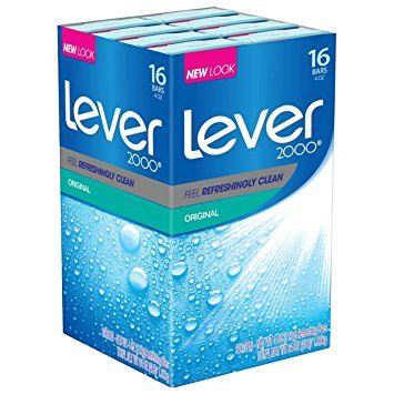 Lever 2000 Bar Soap Original 4 oz 16ct 2-Pack (Total 32Bars)