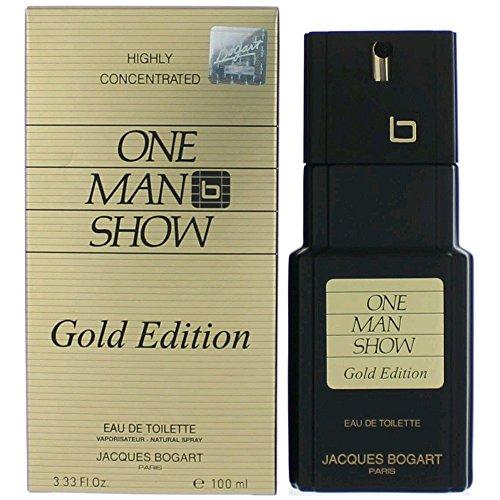 Jacques Bogart One Man Show Eau De Toilette Spray (Gold Edition) for Men, 3.33 Ounce
