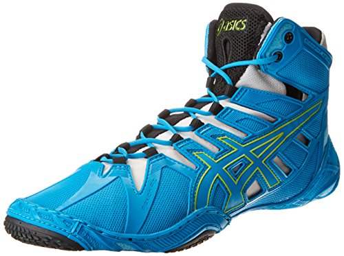 Asics Men-s Omniflex-Attack Wrestling Shoe,Blue Jewel/Lime/Silver,13 M US